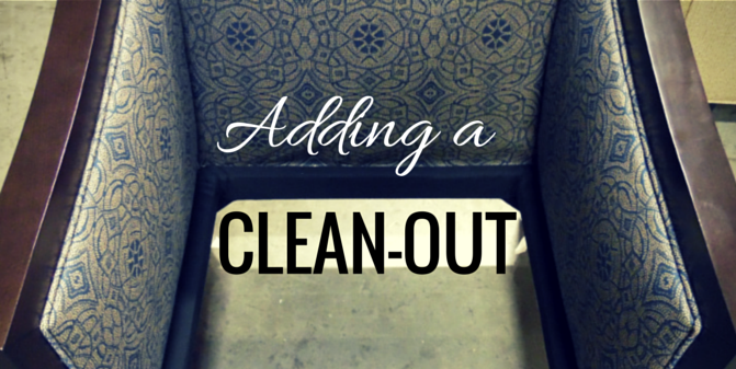 "How to add a ""clean-out"" to any seating design"